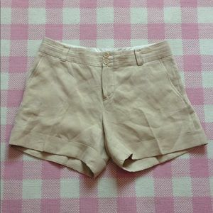 Banana Republic LINEN Martin Fit cuffed  shorts